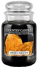 Parfüm, Parfüméria, kozmetikum Illatgyertya üvegben - Country Candle Golden Tobacco