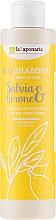 """Parfüm, Parfüméria, kozmetikum Sampon """"Zsálya és citrom"""" - La Saponaria Salvias & Limone Bio Shampoo"""