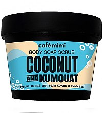 """Parfüm, Parfüméria, kozmetikum Testradír-szappan """"Kókusz és kumkvat"""" - Cafe Mimi Scrub-Soap"""