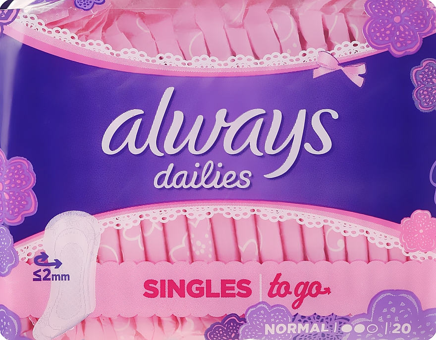 Tisztasági betét, 20 db - Always Dailies Singles To Go