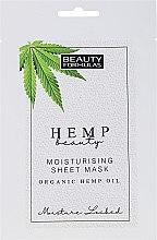 Parfüm, Parfüméria, kozmetikum Hidratáló arcmaszk - Beauty Formulas Hemp Beauty Moisturising Sheet Mask