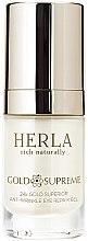 Parfüm, Parfüméria, kozmetikum Szemkörnyékápoló gél - Herla Gold Supreme 24K Gold Superior Anti-Wrinkle Eye Repair Gel