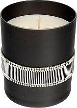 Parfüm, Parfüméria, kozmetikum Illatgyertya fekete, 8x9,5cm - Artman Crystal Glass