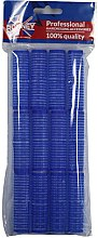 Parfüm, Parfüméria, kozmetikum Tépőzáras hajcsavaró 16/63, kék - Ronney Professional Velcro Roller