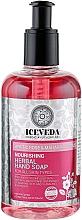 Parfüm, Parfüméria, kozmetikum Folyékony kézszappan - Iceveda Arctic Rose & Maharaja Lotus Nourishing Herbal Hand Soap