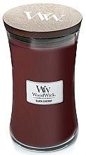Parfüm, Parfüméria, kozmetikum Illatgyertya pohárban - WoodWick Hourglass Candle Black Cherry