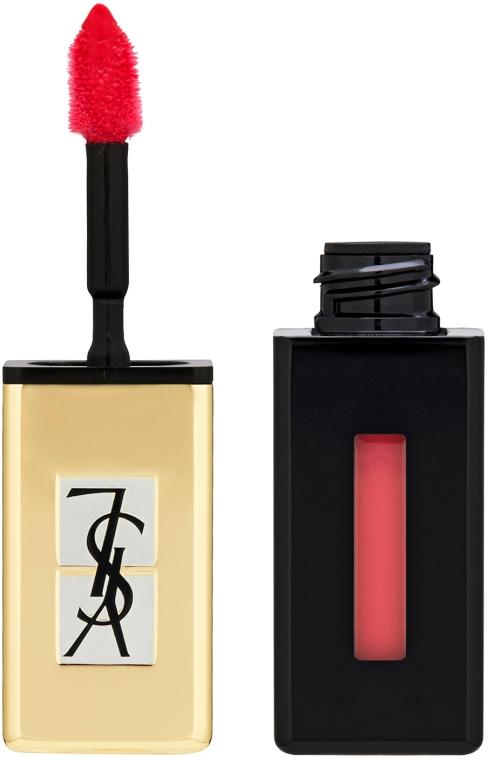 Hosszan tartó rúzs és ajakfény 2 az 1-ben - Yves Saint Laurent Rouge Pur Couture Vernis a Levres Pop Water