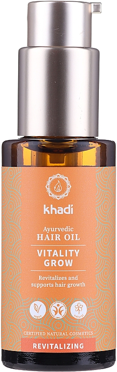 Helyreállító hajmaszk - Khadi Ayurvedic Vitality Grow Hair Oil