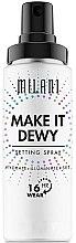 Parfüm, Parfüméria, kozmetikum Sminkfixáló spray ragyogó hatással 3 az 1-ben - Milani Make It Dewy 3-In-1 Setting Spray Hydrate + Illuminate + Set