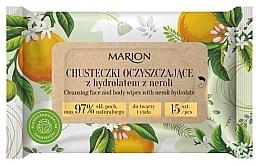 Parfüm, Parfüméria, kozmetikum Arc- és testtisztító törlőkendők nerolli hidroláttal, 15 db - Marion