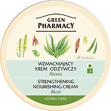 "Parfüm, Parfüméria, kozmetikum ""Aloe vera"" arckrém - Green Pharmacy Strengthening Nourishing Cream"