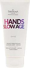 Parfüm, Parfüméria, kozmetikum Kézradír - Farmona Hands Slow Age Triple Active Anti-ageing Hand Scrub
