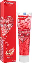 Parfüm, Parfüméria, kozmetikum Fogkrém szívecskékkel, piros - Colgate Dare To Love