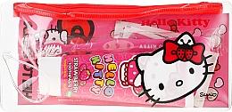 Parfüm, Parfüméria, kozmetikum Utazó szett gyerekeknek - VitalCare Hello Kitty Dental Travel Kit (teeth/brush + teeth/paste/75ml + 10 x plasters)