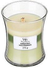 Parfüm, Parfüméria, kozmetikum Illatgyertya pohárban - WoodWick Hourglass Trilogy Candle Garden Oasis