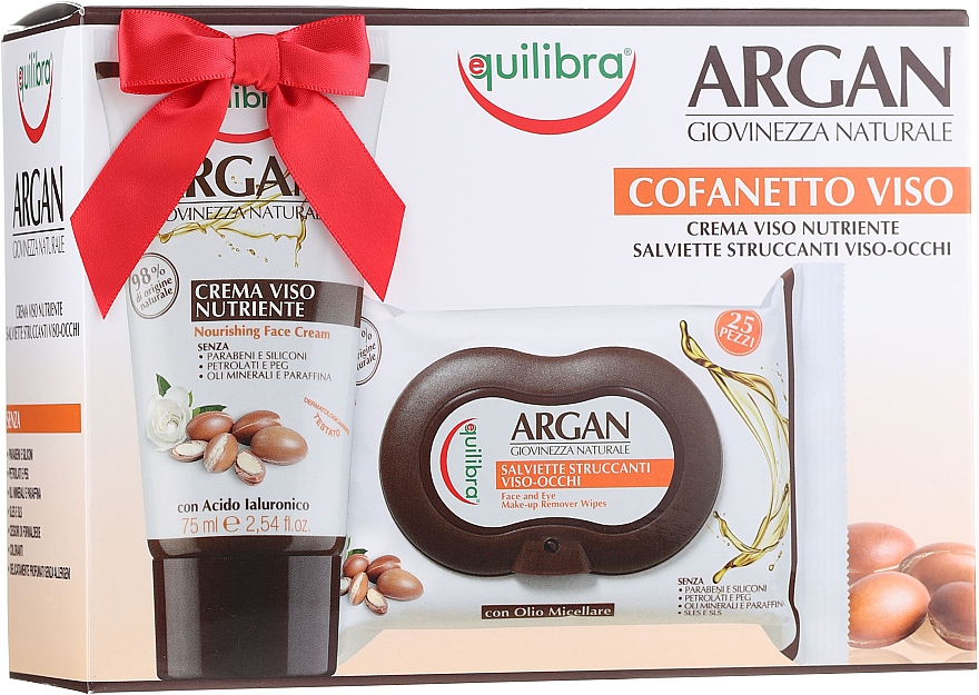 Szett - Equilibra Argan (cr/75ml + f/wipes/25pcs)