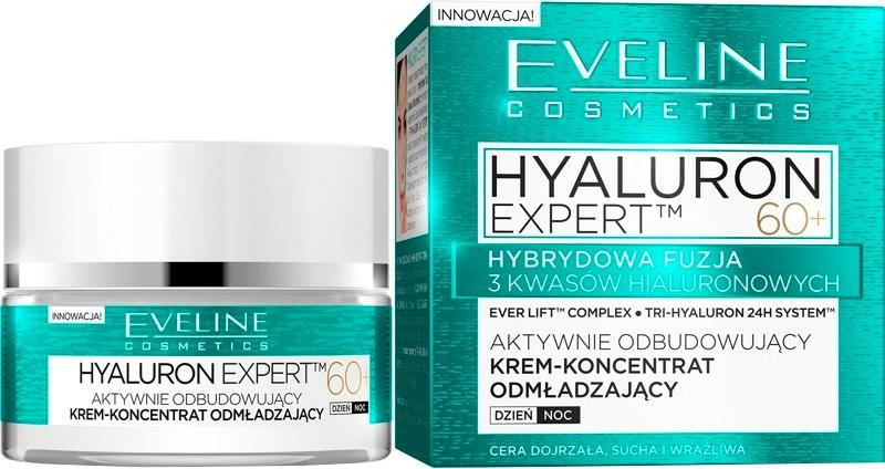 Ráncfeltöltő nappali-éjszakai krém-koncentrátum SPF8 - Eveline Cosmetics Hyaluron Expert 60+