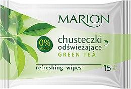 """Parfüm, Parfüméria, kozmetikum Frissítő törlőkendő """"Green Tea"""", 15db - Marion"""