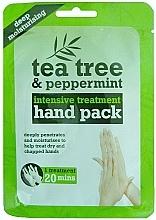 Parfüm, Parfüméria, kozmetikum Kesztyű maszk - Xpel Marketing Ltd Tea Tree & Peppermint Deep Moisturising Hand Pack