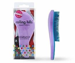 Parfüm, Parfüméria, kozmetikum Hajfésű, világos lila - Rolling Hills Detangling Brush Travel Size Light Purple