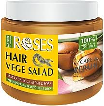 Parfüm, Parfüméria, kozmetikum Maszk kimerült hajra rózsa- és argánolajjal - Nature of Agiva Roses Care & Repair Hair Mask