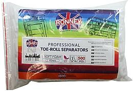 Parfüm, Parfüméria, kozmetikum Pedikűr lábujjelválasztó, 500 db - Ronney Professional Toe-Roll Sparators