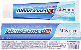 "Parfüm, Parfüméria, kozmetikum Fogkrém ""Cool Water"" - Blend-a-med 3D White Fresh Cool Water Toothpaste"