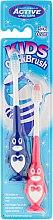 Parfüm, Parfüméria, kozmetikum Fogkefe készlet, 3-6 éves korig, pingvin. kék és rózsaszín - Beauty Formulas Kids Quick Brush