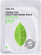 Parfüm, Parfüméria, kozmetikum Szövetmaszk arcra - Lebelage Green Tea Solution Mask