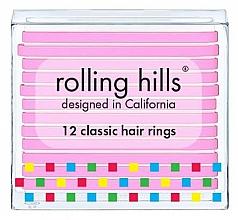 Parfüm, Parfüméria, kozmetikum Hajgumi szett - Rolling Hills Classic Hair Rings Pink