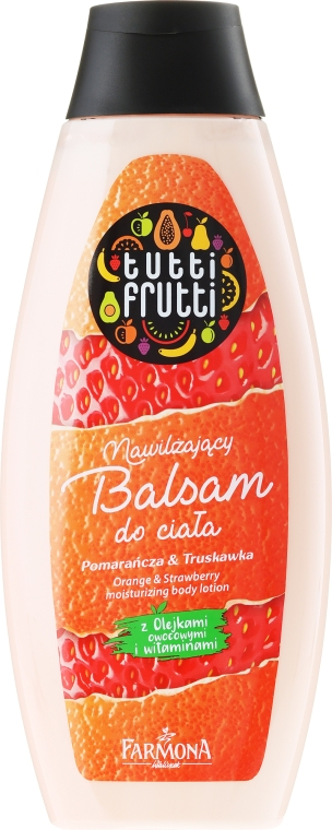 """Testápoló balzsam """"Narancs és szamóca"""" - Farmona Tutti Frutti Body Lotion"""