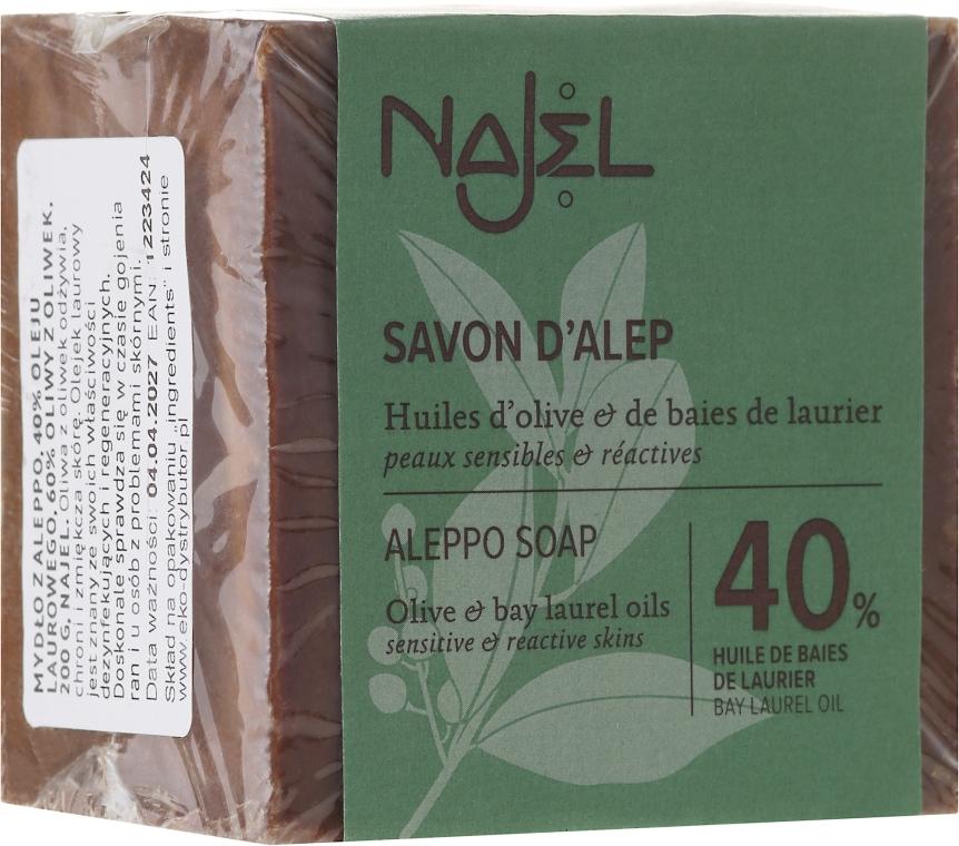 Aleppo szappan babérolajjal 40% - Najel Aleppo Premium Soap 40% Bay Laurel Oil