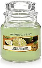 Parfüm, Parfüméria, kozmetikum Illatosított gyertya pohárban - Yankee Candle Lime & Coriander