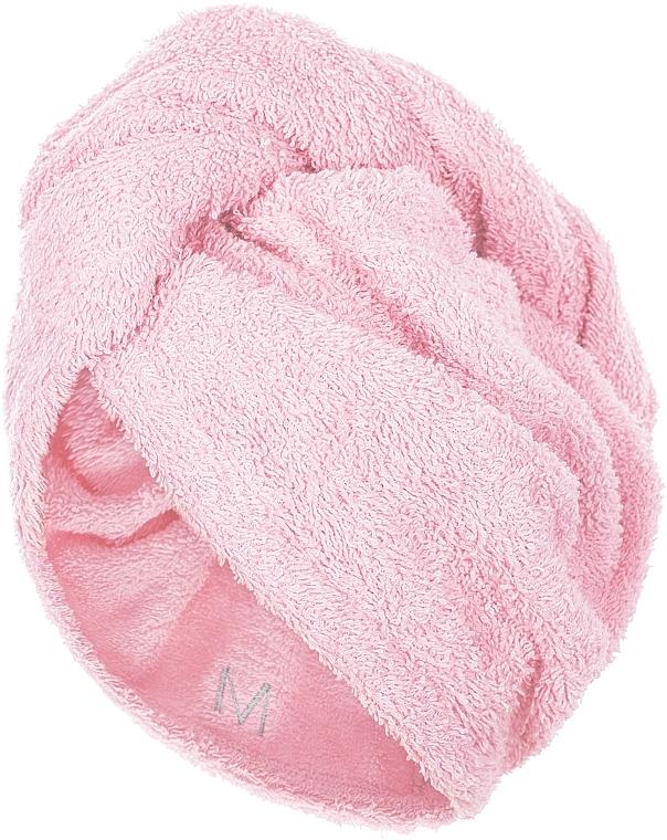 Hajszárító törölköző sapka, halvány rózsaszín - MakeUp