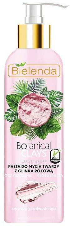 Arctisztító rózsaszín agyag - Bielenda Botanical Clays Vegan Face Wash Paste Pink Clay