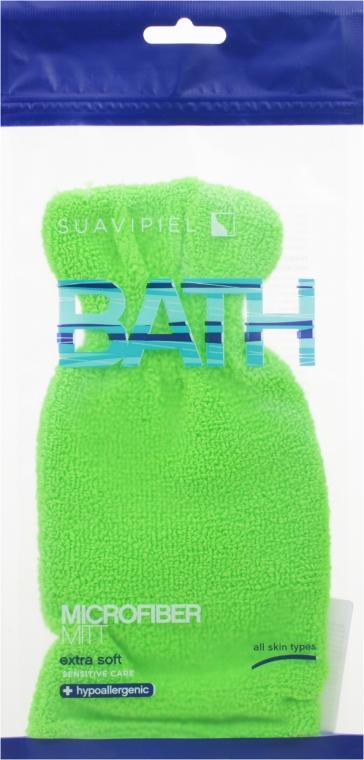 Fürdőszivacs kesztyű, salátazöld - Suavipiel Bath Micro Fiber Mitt Extra Soft
