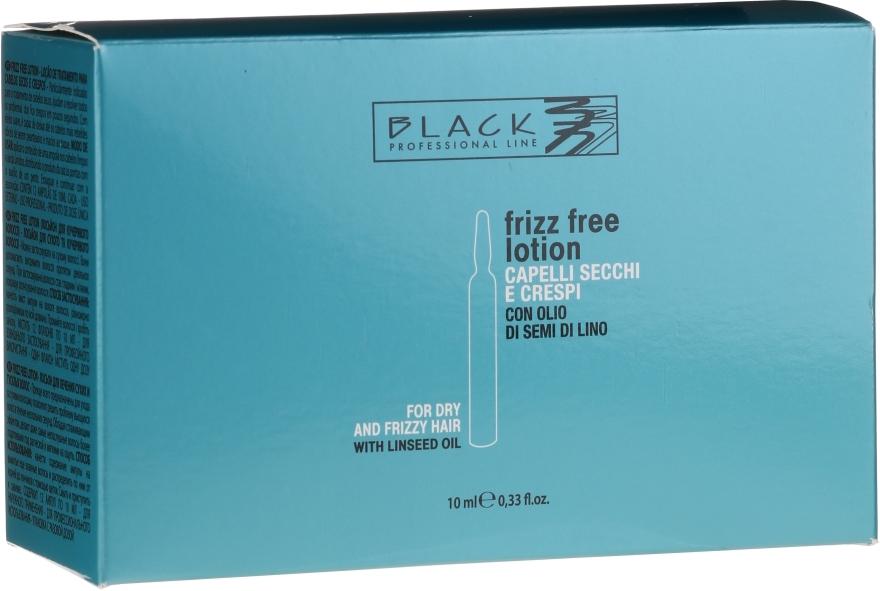 Hajegyenesítő ampulla rakoncátlan és göndör hajra - Black Professional Line Anti-Frizz