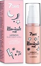 Parfüm, Parfüméria, kozmetikum Ragyogó krém-fluid arcra 4az1 - 7 Days Illuminate Me Luminous Fluid Cream 4in1
