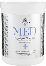 Parfüm, Parfüméria, kozmetikum Mély helyreállító maszk - Kallos Cosmetics MED Deep Repair Hair Mask