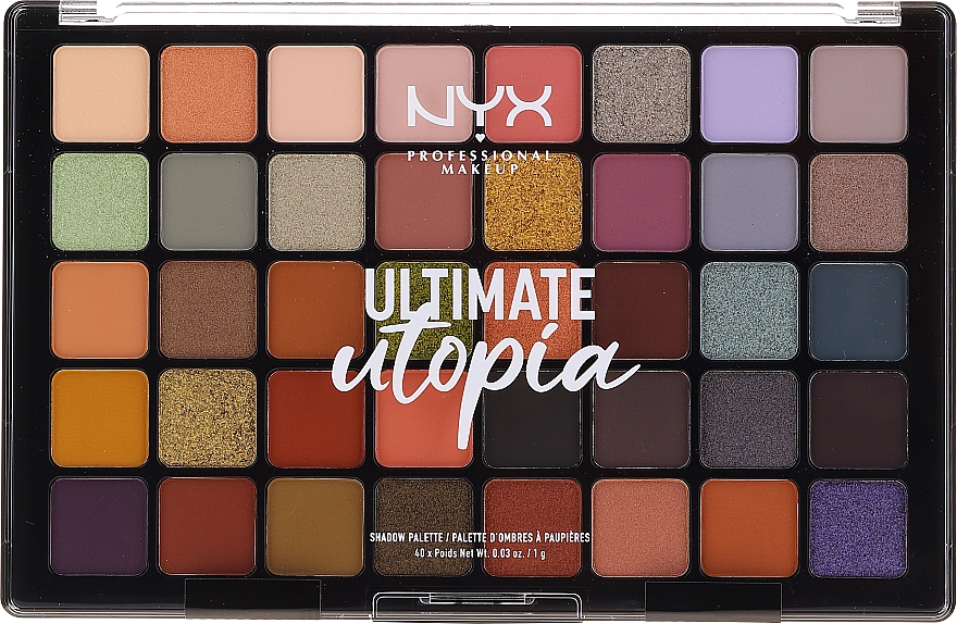 Szemhéjfesték paletta - NYX Ultimate Utopia Shadow Palette Summer 2020