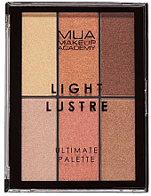 Parfüm, Parfüméria, kozmetikum Sminkpalette - MUA Light Lustre Ultimate Palette Bronze, Blush, Highlight