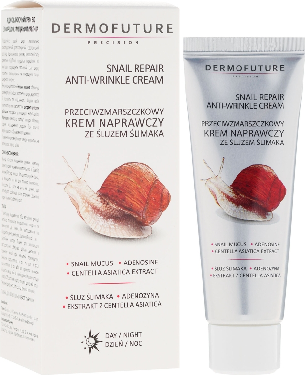 Ránctalanító csiganyál krém - Dermofuture Snail Repair Anti-Wrinkle Face Cream