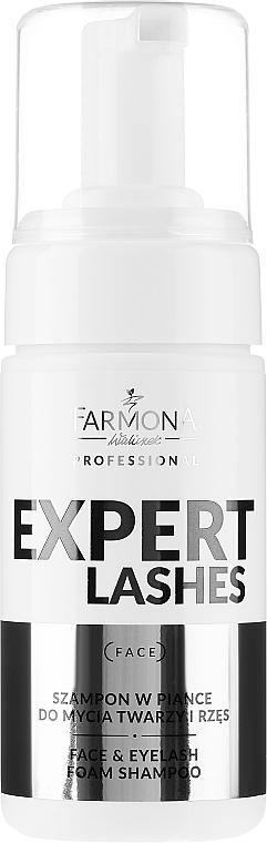 Habos sampon arcra és szempillára - Farmona Professional Expert Lashes Face&Eyelash Foam Shampoo