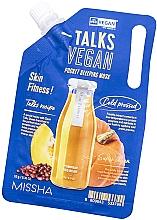 Parfüm, Parfüméria, kozmetikum Éjszakai hámlasztó maszk - Missha Talks Vegan Squeeze Pocket Sleeping Mask Skin Fitness