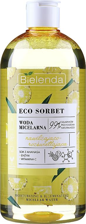 """Micellás víz """"Hidratáló és élénkítő"""" - Bielenda Eco Sorbet Moisturizing&Illuminating Micellar Water"""