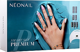 Parfüm, Parfüméria, kozmetikum Gél lakk szett - NeoNail Professional Smart Set Premium (n/polish/5x3ml + n/base/7.2ml + n/top/7.2ml + lamp/1pc + n/cleaner/50ml + n/remover/50ml + n/pads/250pcs + nail/file/2pcs)