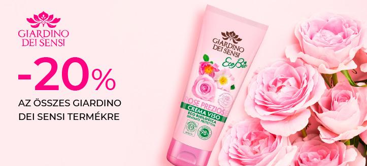 -20% kedvezmény az összes Giardino Dei Sensi termékre. A feltüntetett ár a kedvezményt is tartalmazza