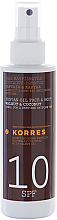 Parfüm, Parfüméria, kozmetikum Napozó olaj - Korres Clear Sunscreen Body Face Walnut Coconut Oil SPF10