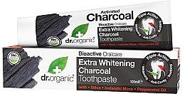 Parfüm, Parfüméria, kozmetikum Fogkrém aktív szénnel - Dr. Organic Extra Whitening Charcoal Toothpaste