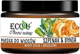 "Parfüm, Parfüméria, kozmetikum Hajmaszk ""Tök és spenót"" - Eco U Pumpkins And Spinach Mask"